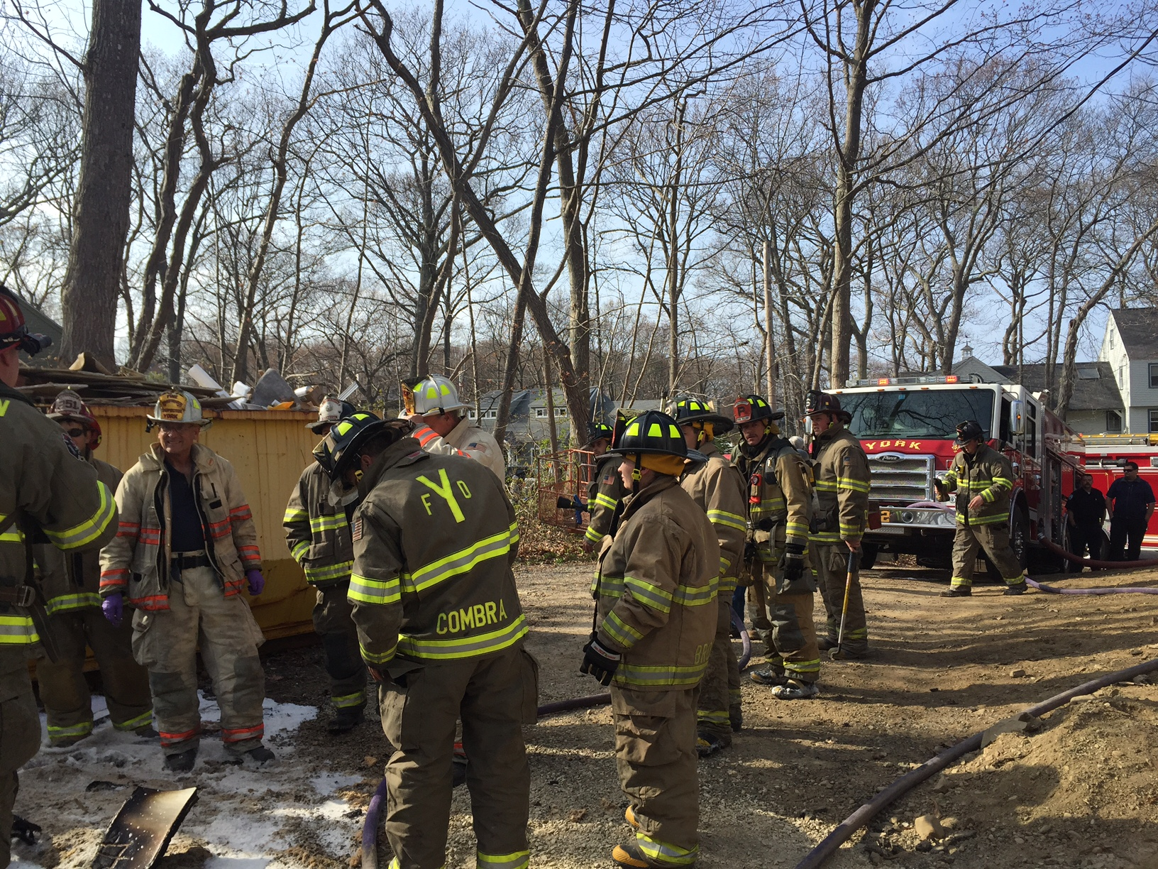Building Materials Fire Quickly Extinguished