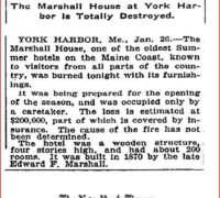 1-26-1916 Marshall House Fire NY Times clipping