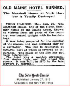 1-26-1916 Marshall House Fire NY Times clipping